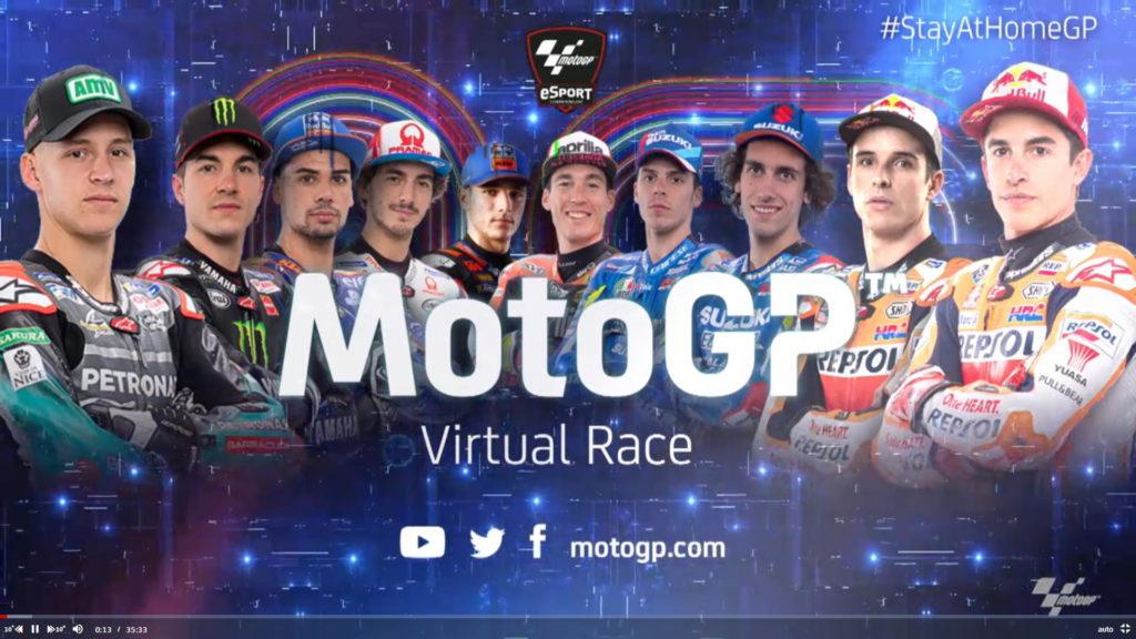 Erster virtueller MotoGP unter dem Moto #BleibZuhauseGP